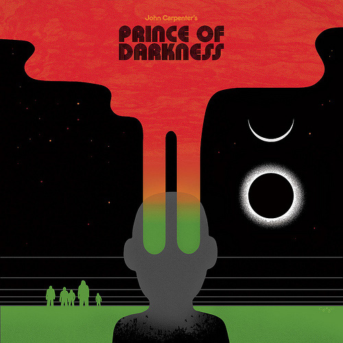 The album cover artwork for Death Waltz records' release of John Carpenter's Prince of Darkness, by Sam's Myth, 2012
