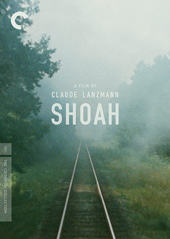 The cover for the Criterion collection release of Shoah, designed by Sam's Myth, 2013
