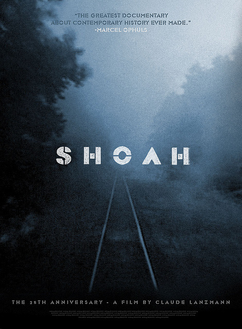 A concept poster for Shoah by Sam's Myth for the 2011 re-release of the film by IFC