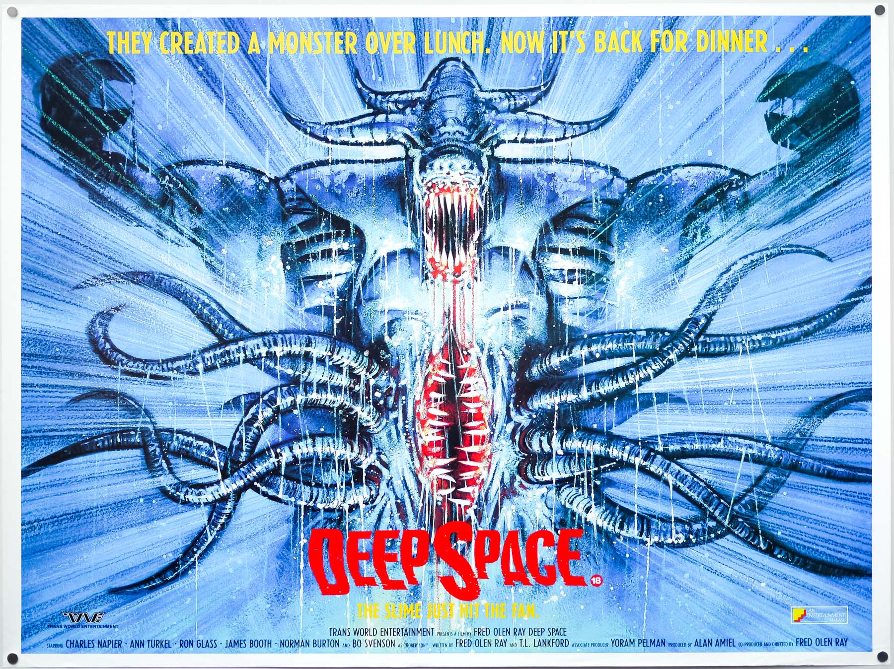 The British quad for Deep Space, by Graham Humphreys – 1988