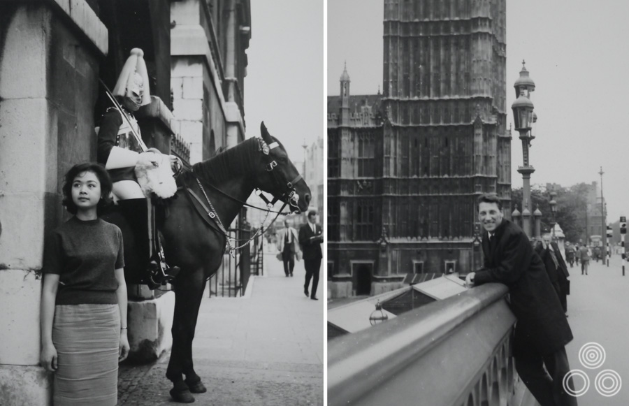 Two images from a day out that Tom and Shirley took around London in 1963.