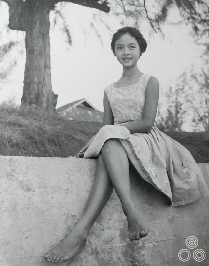 Shirley Chantrell, aged around 10 years old in 1954