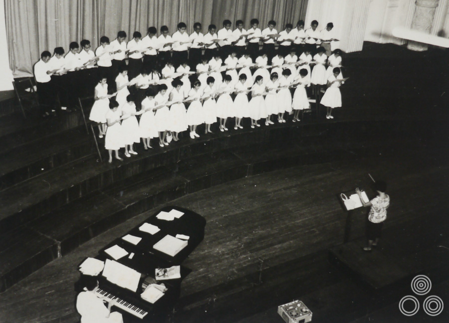 Shirley Chantrell sings in a choir. Shirley: 'I'm the one on the far left of the middle row.""