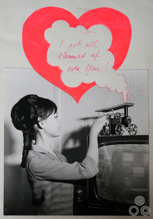 A Valentine's Day card that Tom Chantrell created and gave to Shirley around 1964.