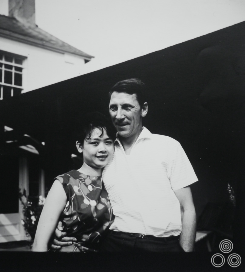 Tom and Shirley Chantrell stand together, circa 1964.