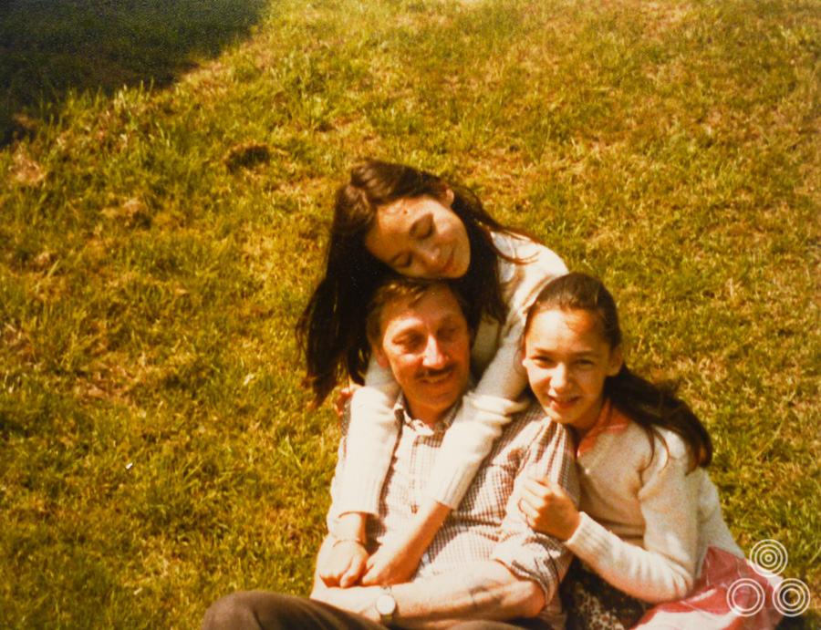 Tom Chantrell with his daughters Jaqui and Louise, circa 1981.
