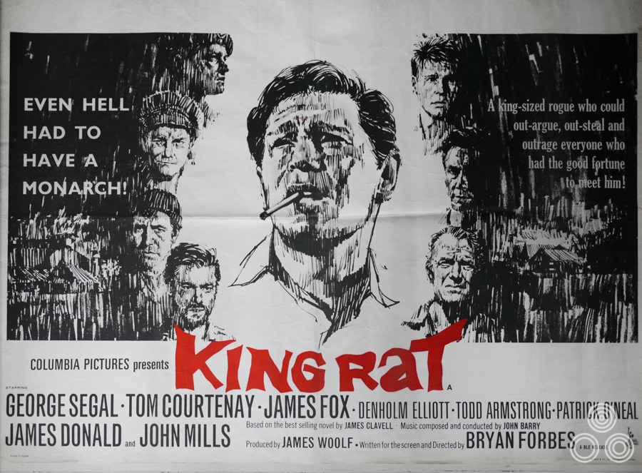 The original British quad for King Rat, designed and illustrated by Vic Fair, 1965