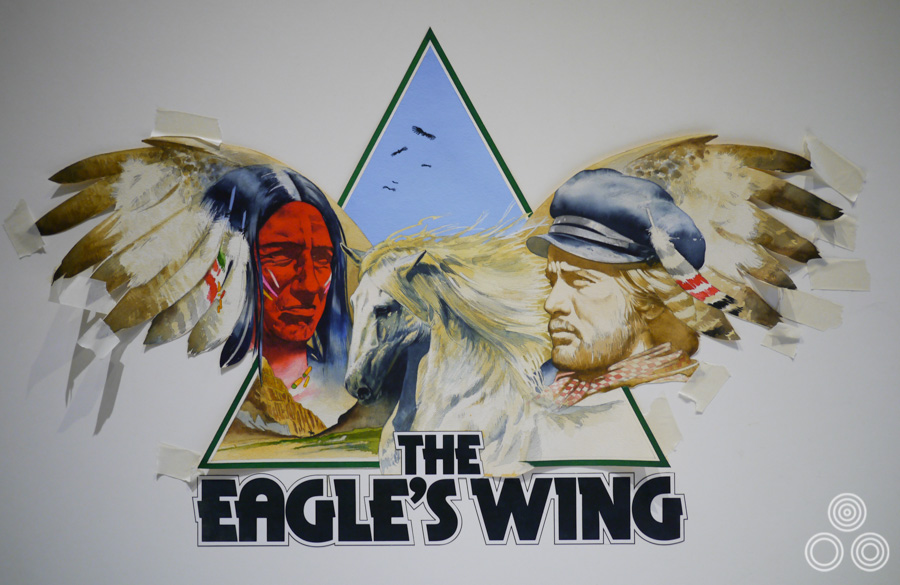 A concept illustration for the British poster of Eagle's Wing (here The Eagle's Wing) by Vic Fair, 1979