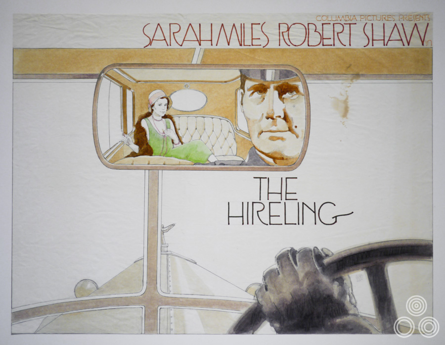 The original rough (sketch) for The Hireling by Vic Fair, 1973.