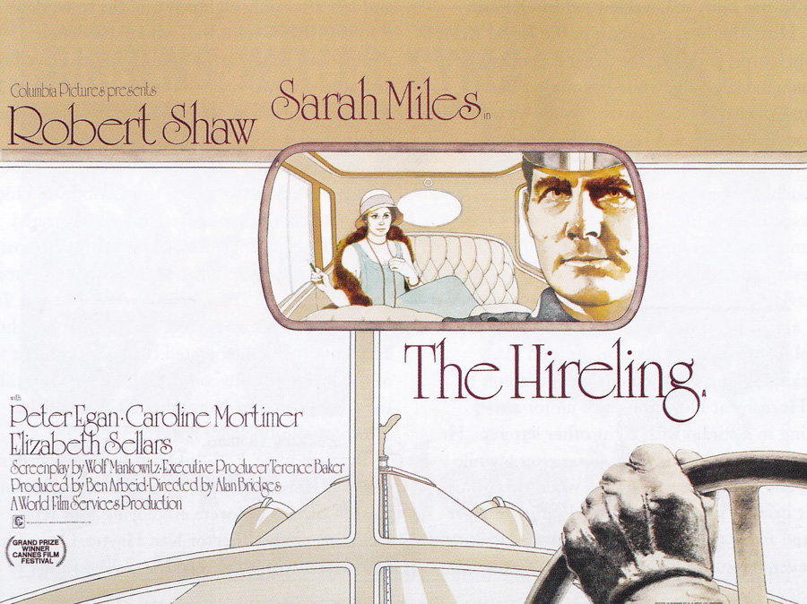 The final printed British quad for The Hireling, designed and illustrated by Vic Fair, 1973. Note how similar it is to the initial sketch above.