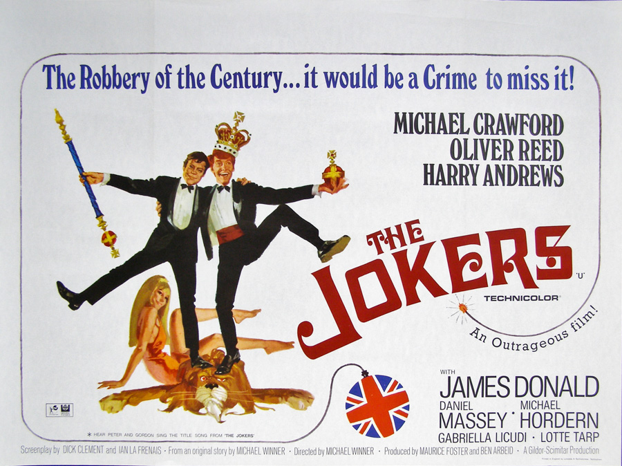 The British quad for The Jokers, which was the resultant poster for which the above reference shot was taken.