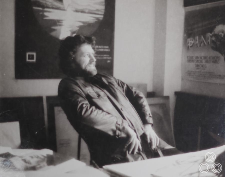 Vic Fair strikes a pose in the Downton's studio, circa 1977.