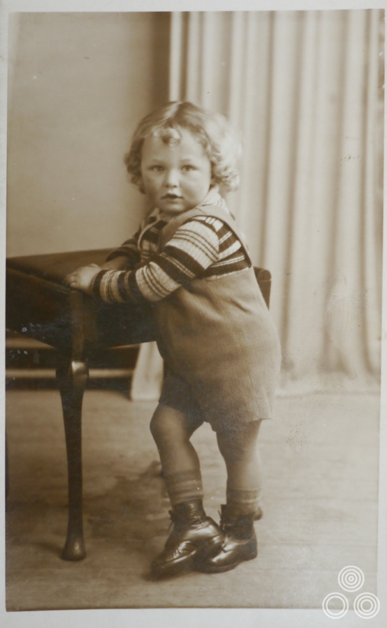 Vic Fair as a young boy, aged around 3, in 1941.