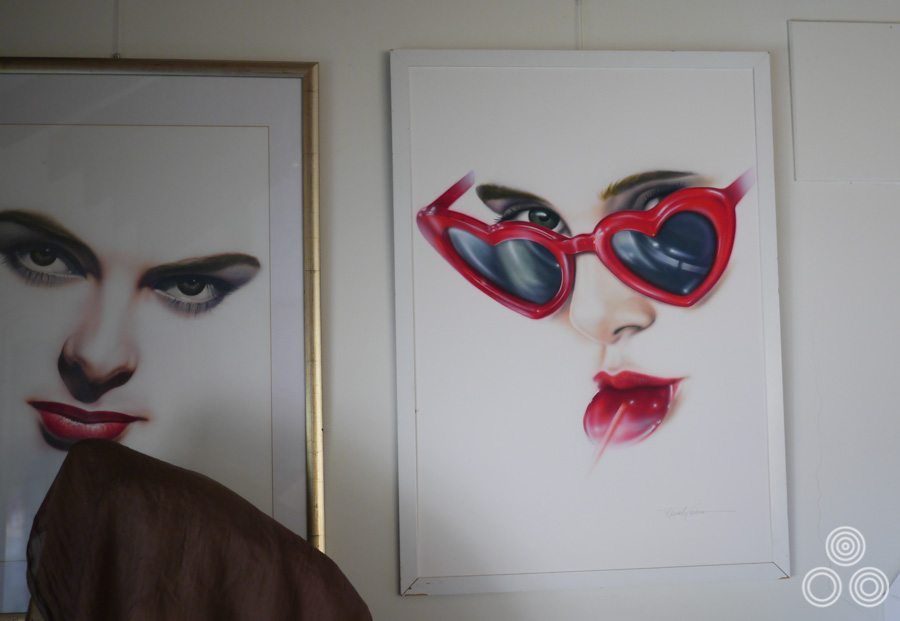Two paintings that were done by Renato Casaro as part of the Painted Movies series. Ingrid Bergman on the left and Sue Lyon (Lolita) on the right. These currently hang in Renato's home studio.