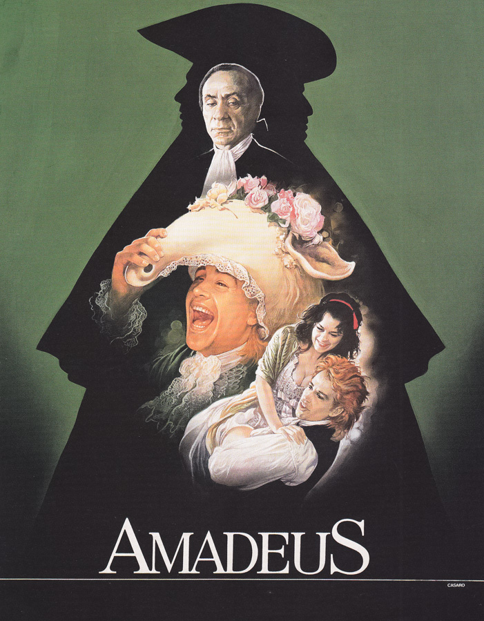 The original artwork that was used on the Italian poster for Amadeus (1984), painted by Renato Casaro