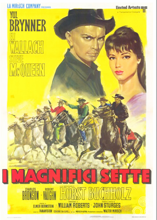 The Italian poster for The Magnificent Seven (style A), painted by Renato Casaro, 1960.