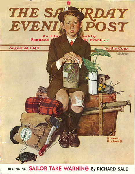 The cover of The Saturday Evening Post, August 24 1940, which was illustrated by Norman Rockwell.
