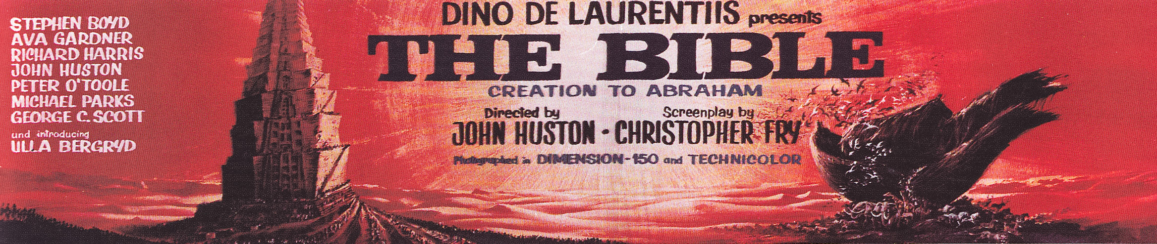 A billboard for John Huston's The Bible (1966), painted by Renato Casaro. The billboard spent many months in place overlooking Sunset Boulevard in Los Angeles.