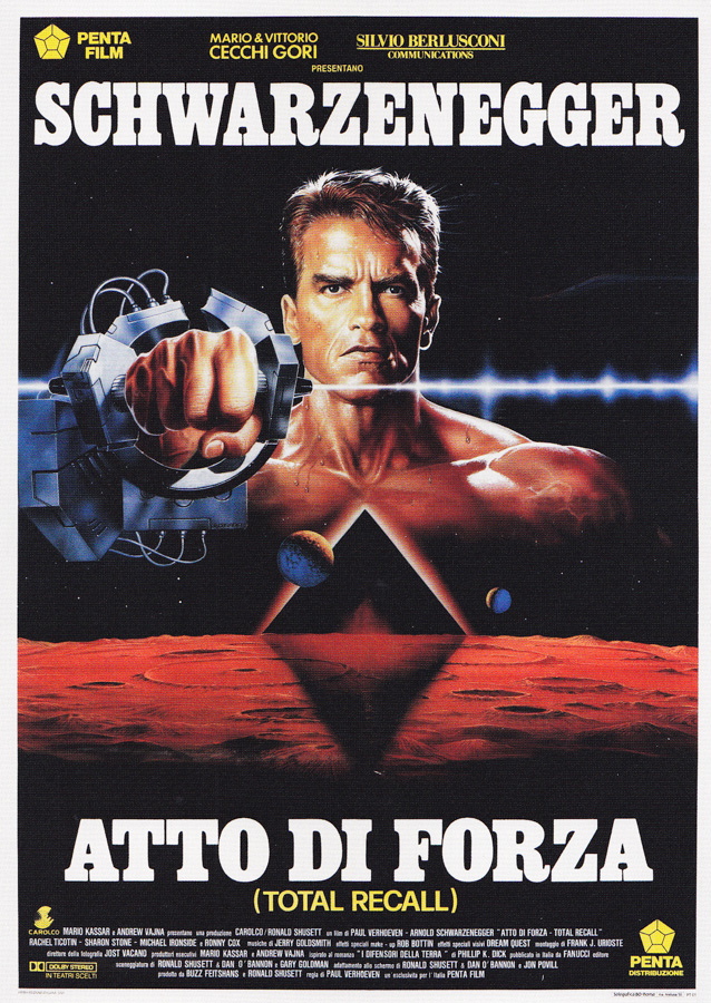 The Italian poster for Total Recall, designed and painted by Renato Casaro, 1990.