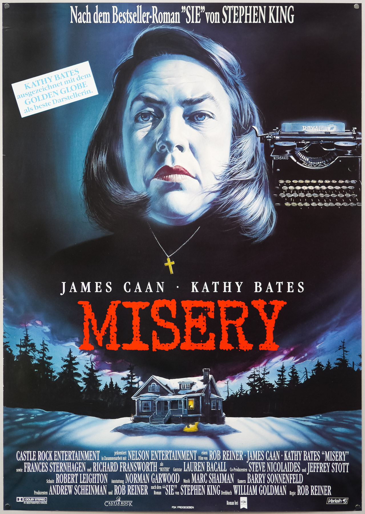 The German poster for Misery, designed and painted by Renato Casaro, 1990
