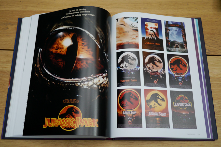 A few of the many poster concepts John Alvin created for Spielberg's Jurassic Park. Many of the ideas are brilliant in their own right.