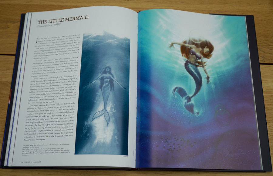 Concept artwork for The Little Mermaid, one of several Disney films that John's artwork helped to promote around the globe.