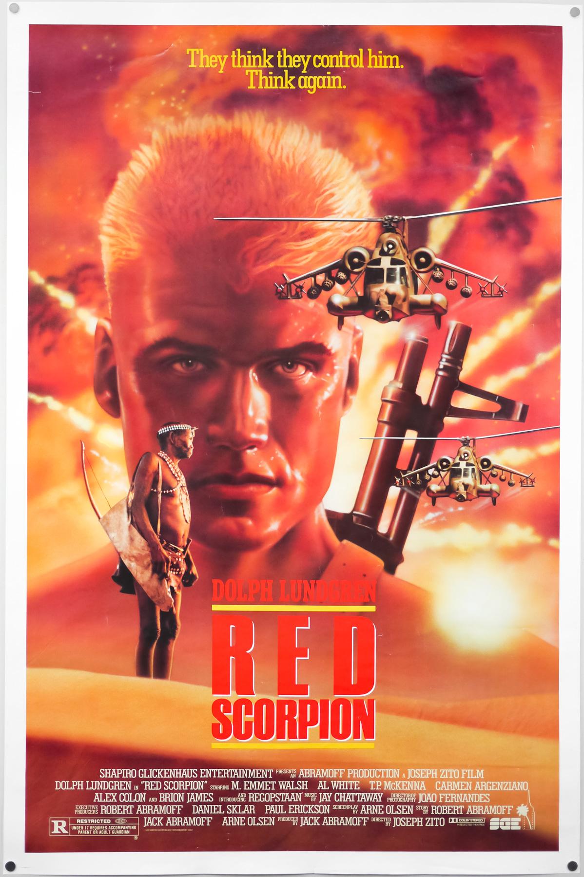 red scorpion-joseph zito-dolph lundgren-m emmet - Comprar