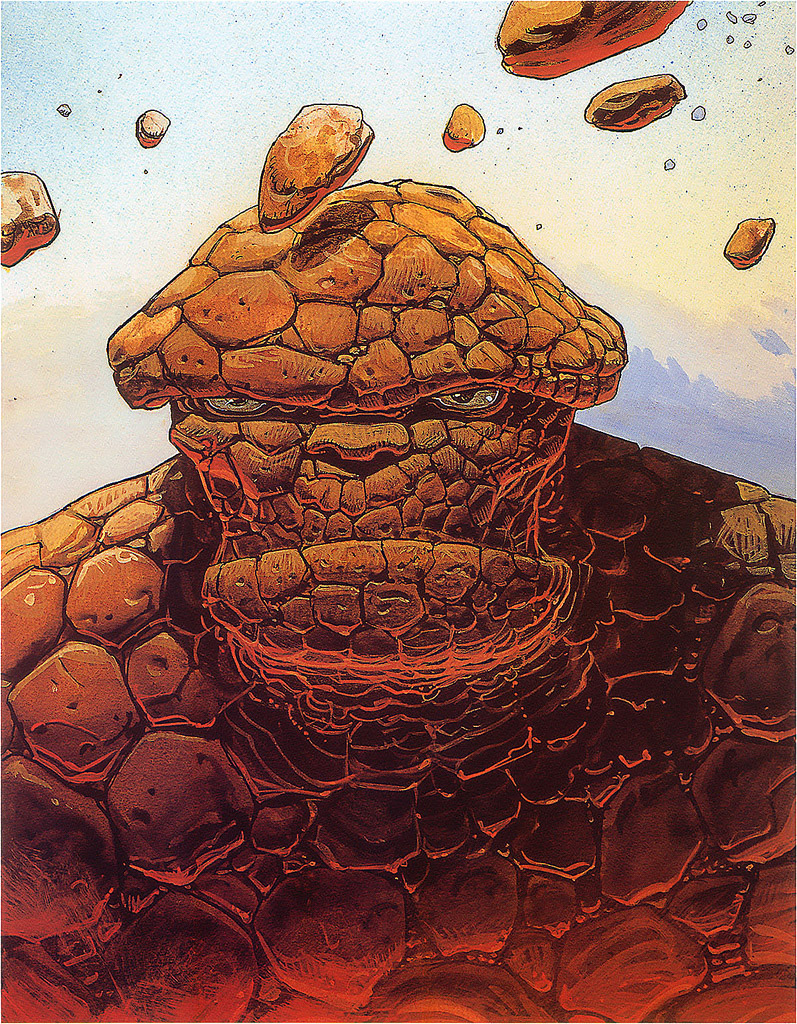 The Marvel character The Thing illustrated by the great French artist Moebius, as featured in the film and hidden in Tyler's print.